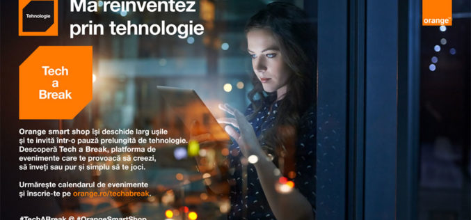 Platforma Tech a Break – Pauza de tehnologie din Orange smart shop