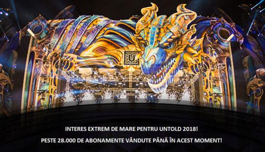 INTERES EXTREM DE MARE PENTRU UNTOLD 2018!